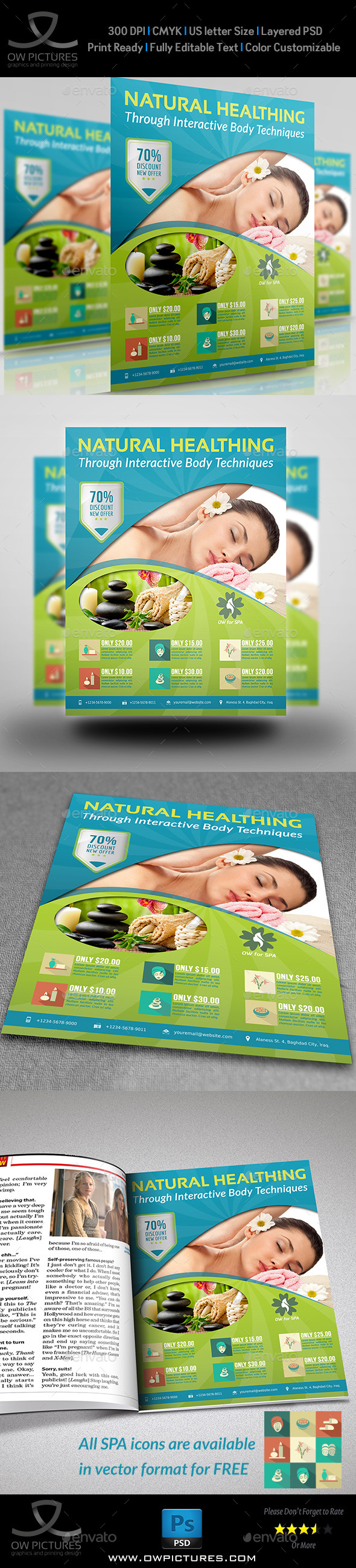 GraphicRiver SPA Beauty Flyer Template 8961939