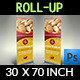 Bakery Signage Roll Up Banner Template - GraphicRiver Item for Sale