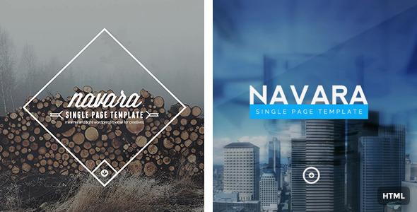 ThemeForest Navara Responsive Single Page HTML Template 8938333