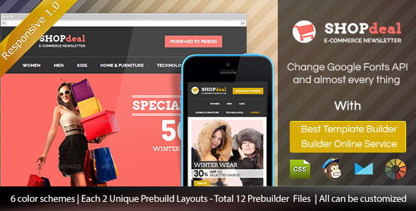 ThemeForest SHOPdeal Responsive Email Template With Builder 8962419