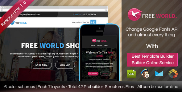 ThemeForest FREEWORLD Responsive Email Template With Builder 8962533