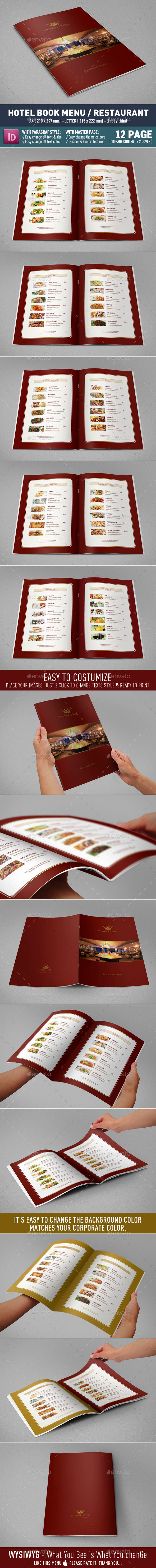 GraphicRiver Hotel Book Menu and Restaurant 8915863