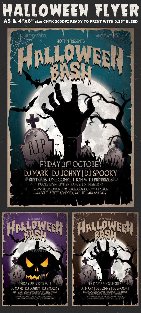 GraphicRiver Halloween Bash Flyer Template 8962721