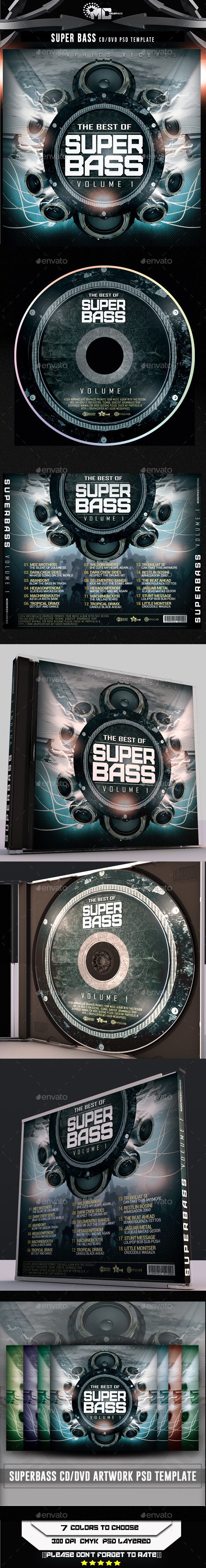 GraphicRiver Super Bass CD DVD Template 8951615