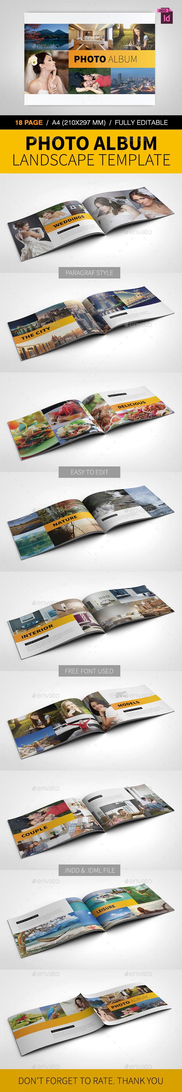 GraphicRiver Photo Album Landscape Template 8933625