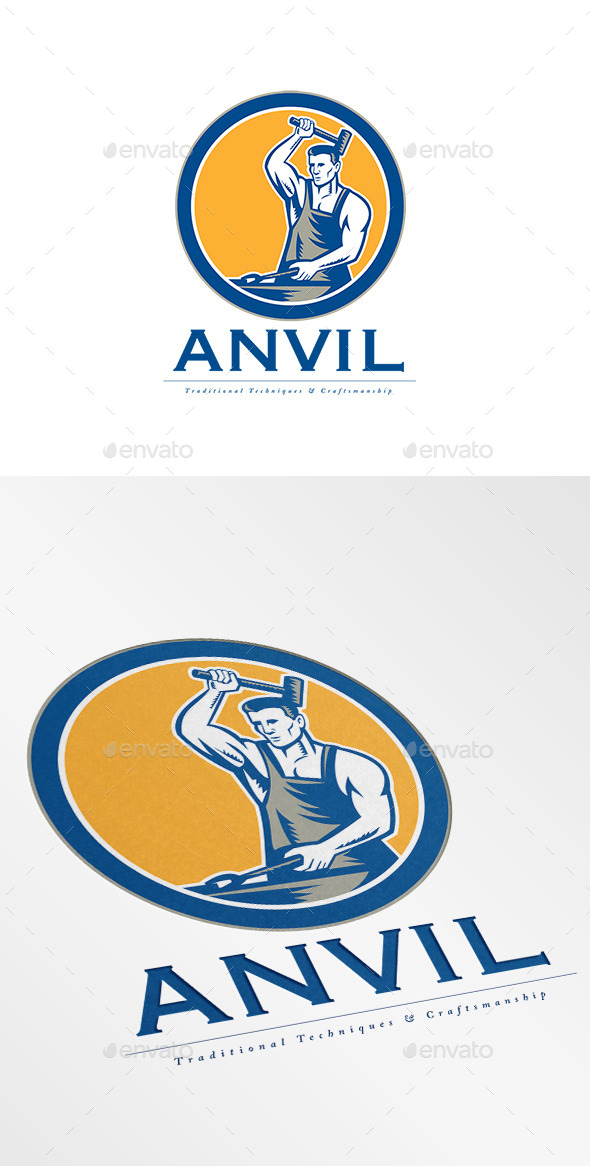GraphicRiver Anvil Traditional Techniques Logo 8967368
