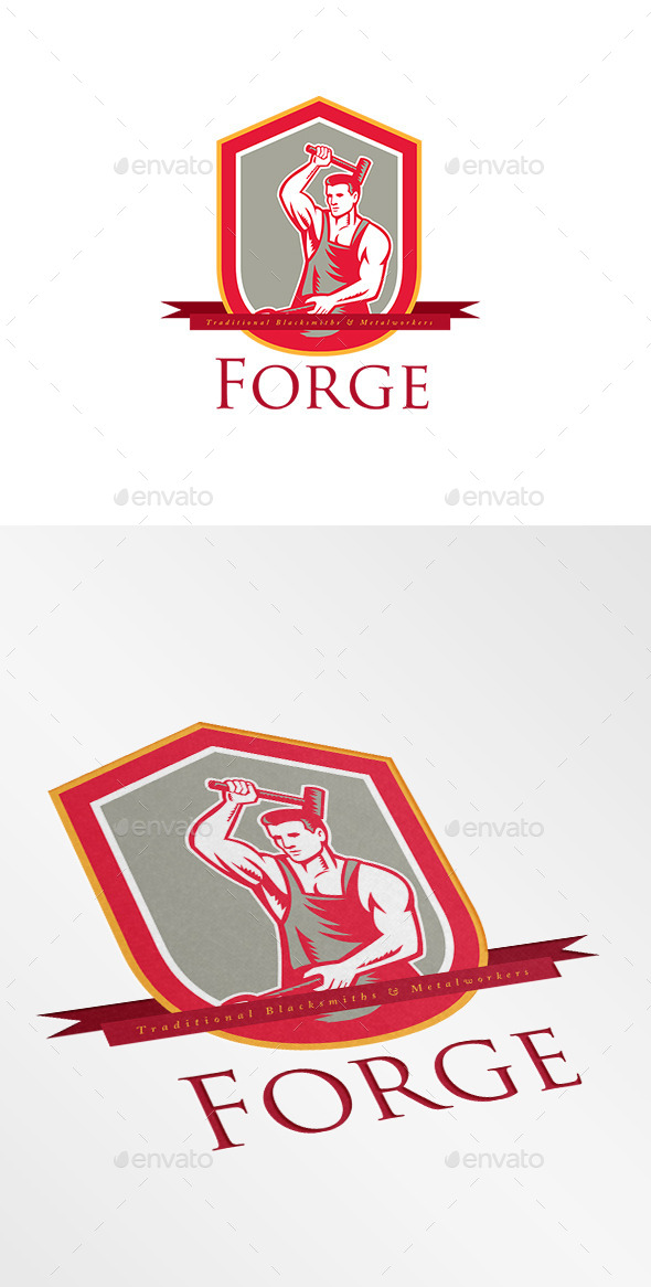 GraphicRiver Forge Blacksmiths Logo 8967370