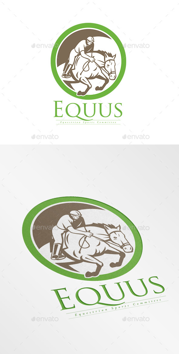 GraphicRiver Equus Equestrian Sports Logo 8967395