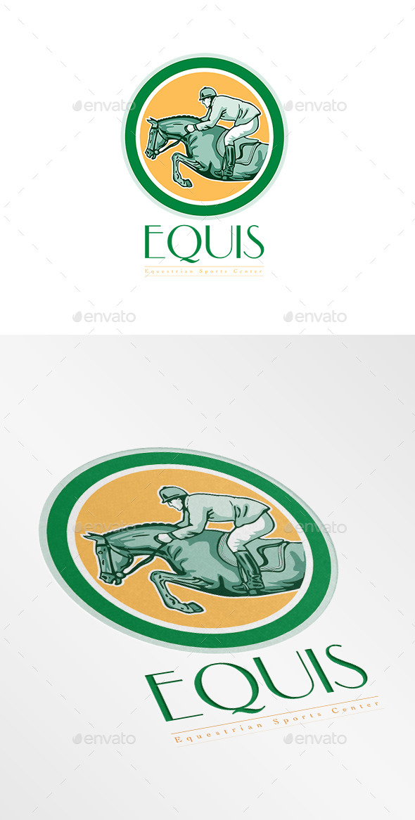 GraphicRiver Equis Equestrian Sports Center Logo 8967402