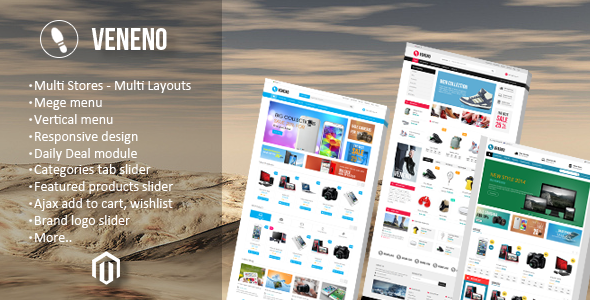 ThemeForest Veneno Multipurpose Responsive Magento Theme 8967598