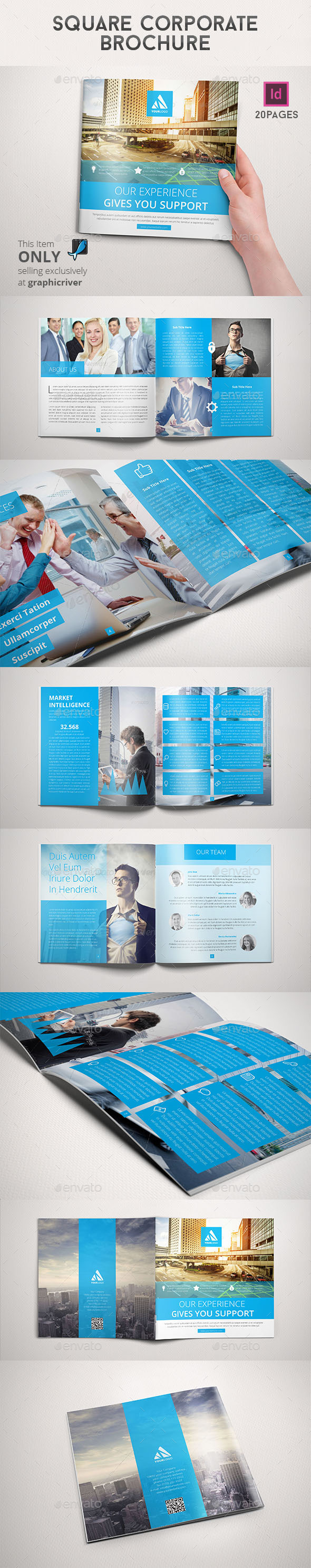 GraphicRiver Square Corporate Brochure 8967764