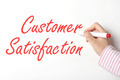 Writing customer satisfaction word on whiteboard  - PhotoDune Item for Sale