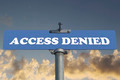 Access denied road sign - PhotoDune Item for Sale