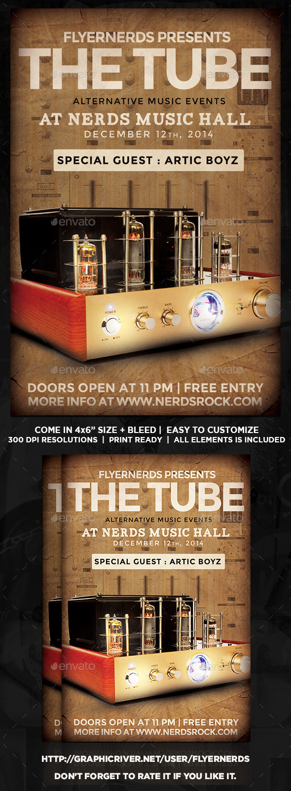 GraphicRiver The Tube Music Flyer 8968073