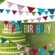 Birthday Card with Bunting Flags. - GraphicRiver Item for Sale