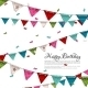 Birthday Card with Confetti and Bunting Flags. - GraphicRiver Item for Sale