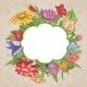 Vector Bright Flower Frame - GraphicRiver Item for Sale