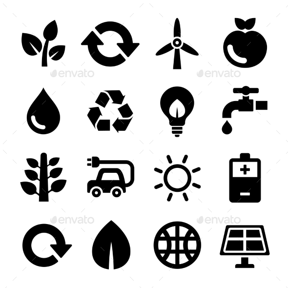 GraphicRiver Ecology and Recycle Icons Set Vector 8968317