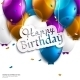 Birthday Card with Balloons and Birthday Text. - GraphicRiver Item for Sale