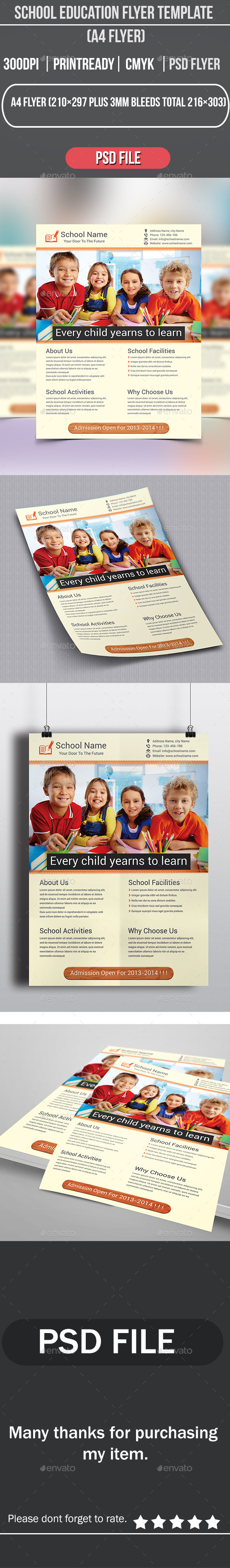 GraphicRiver School Education Flyer Template 8968585
