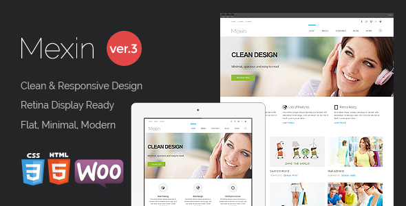 Mexin - Premium Multipurpose Responsive Theme - Business Corporate