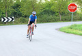 male cyclist riding a bike on an road - PhotoDune Item for Sale