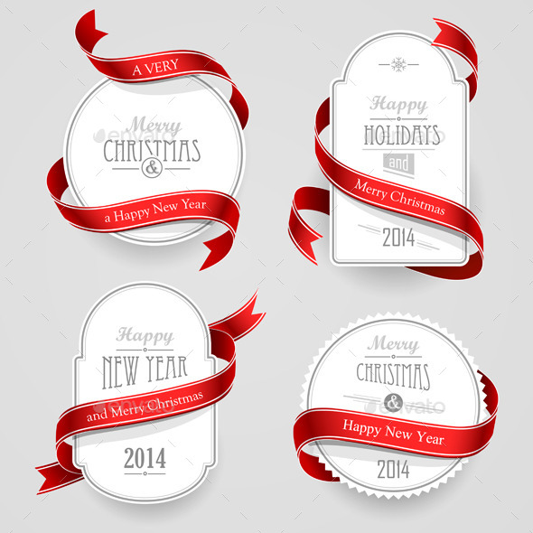GraphicRiver Christmas Emblems 8969232