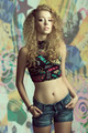 young curly fashion girl - PhotoDune Item for Sale