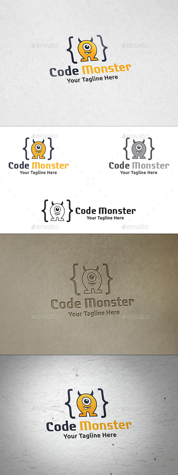 GraphicRiver Code Monster Logo Template 8969394