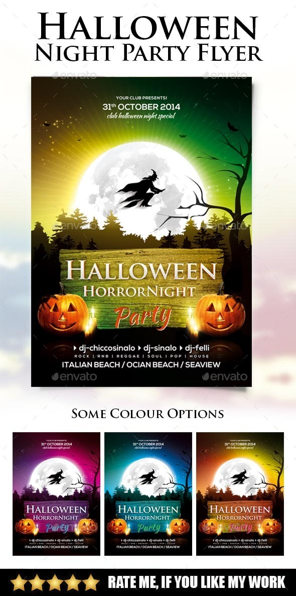 GraphicRiver Halloween Night Party Flyer 8969397
