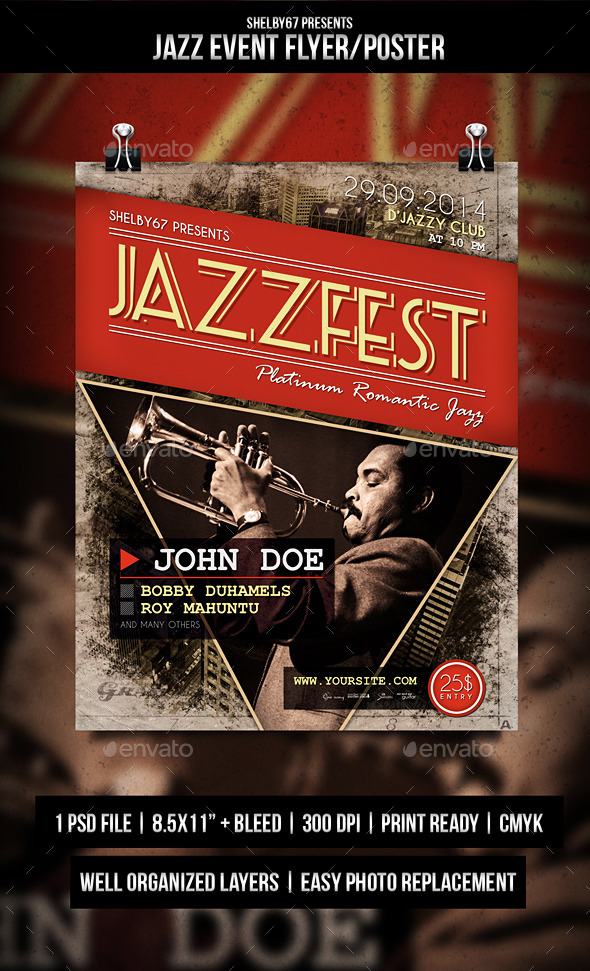 GraphicRiver Jazz Event Flyer Poster 8969847