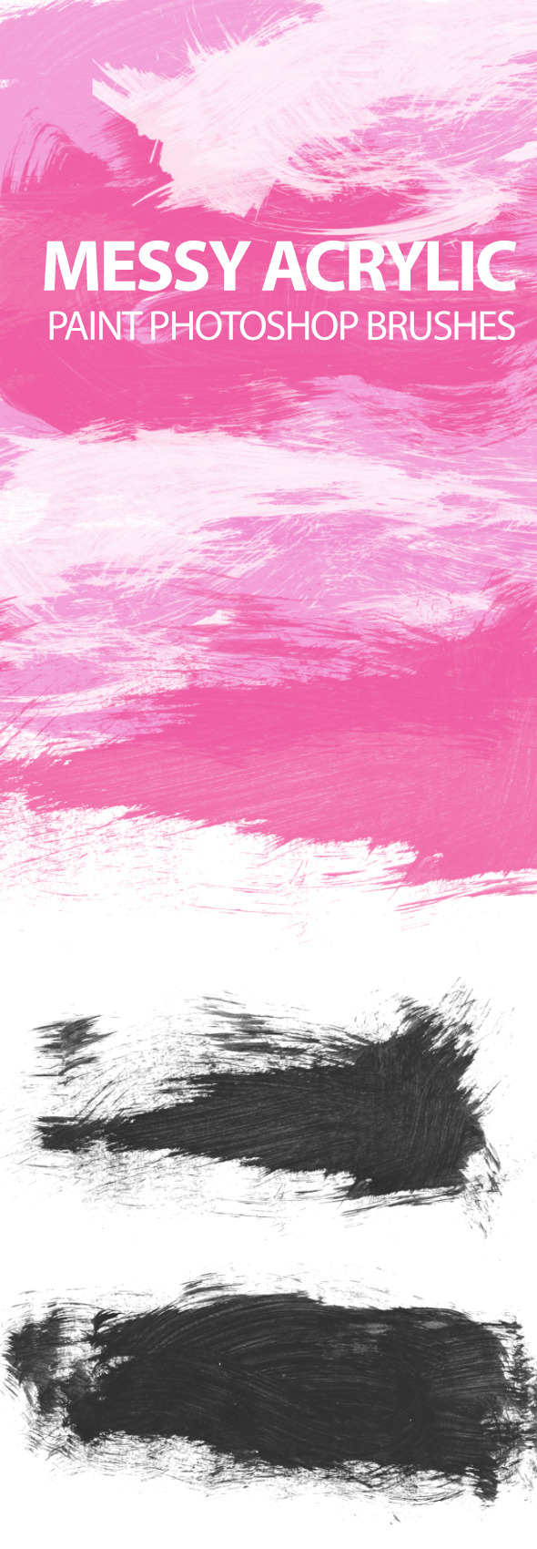 GraphicRiver Messy Acrylic Paint Strokes 6727044