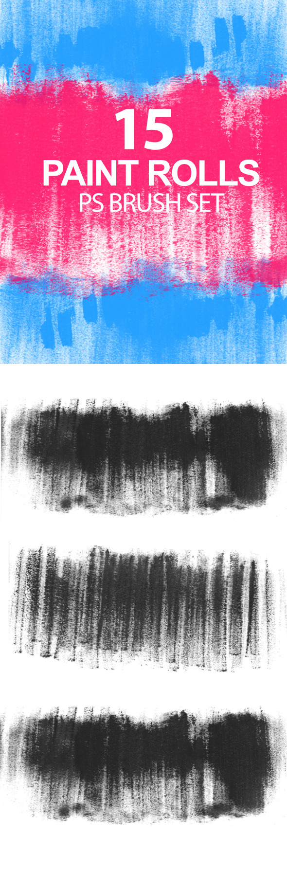 GraphicRiver Paint Rolls Photoshop Brush Set 6724034