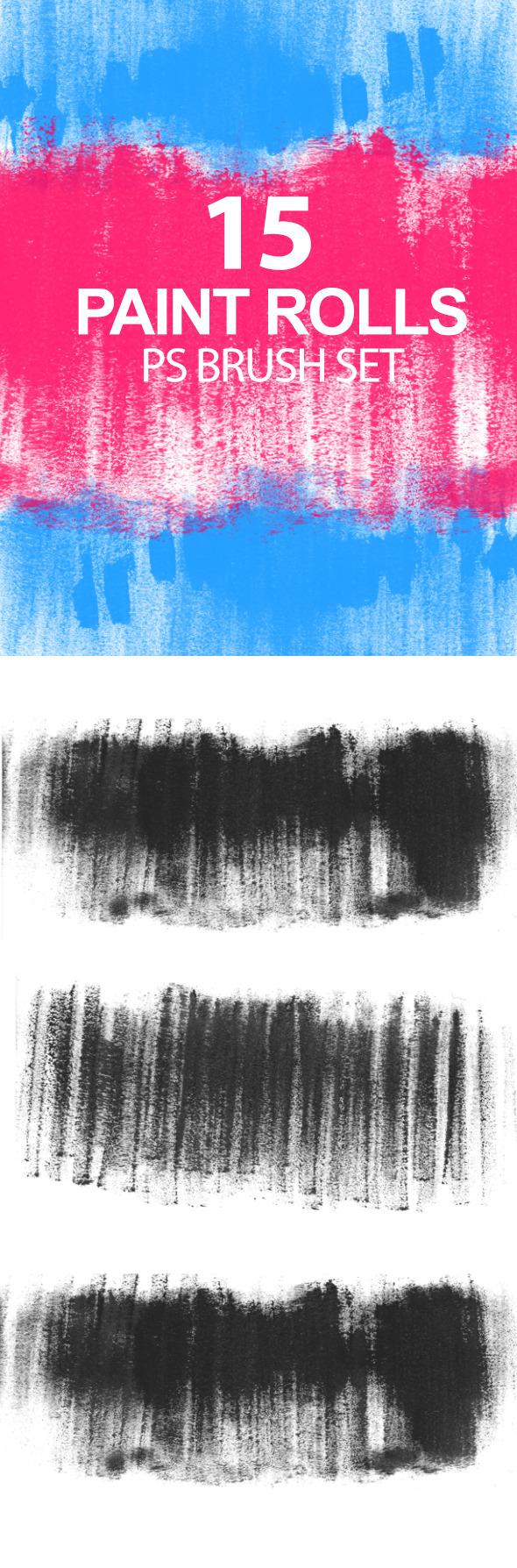 GraphicRiver Paint Rolls Photoshop Brush Set 6724034
