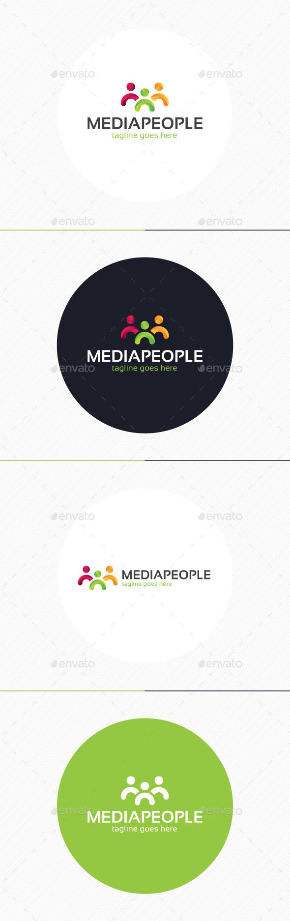 GraphicRiver Media People Logo 8970070