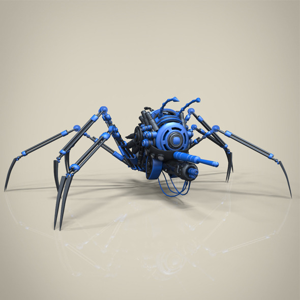 Robo spider - 3DOcean Item for Sale