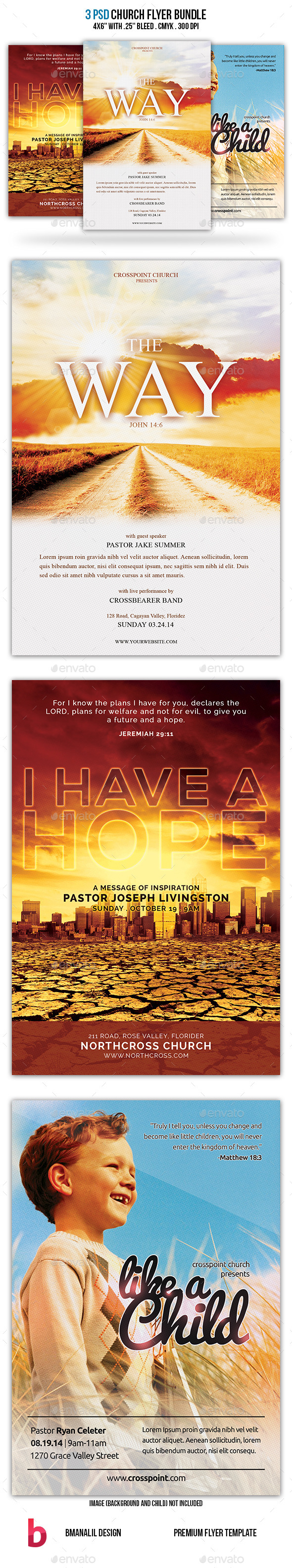 GraphicRiver Church Flyer Bundle 8970218