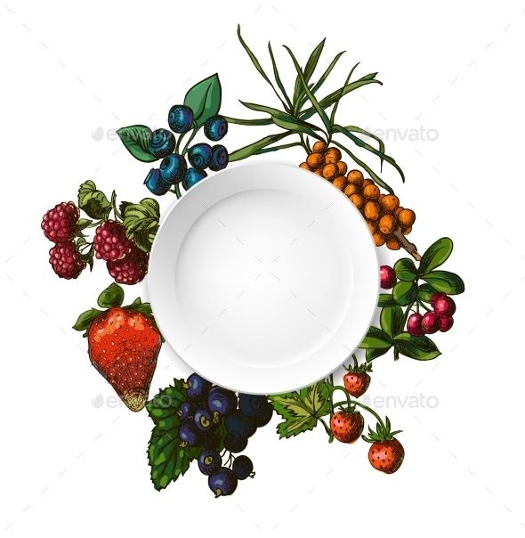 GraphicRiver Illustration Set of Berries 8970234
