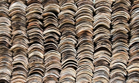 GraphicRiver Stack of Roofing Tiles Texture 8970242