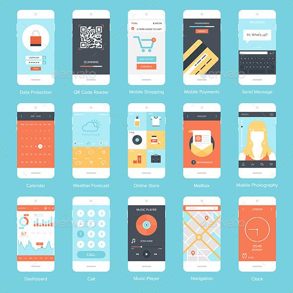 GraphicRiver Mobile UI 8970433