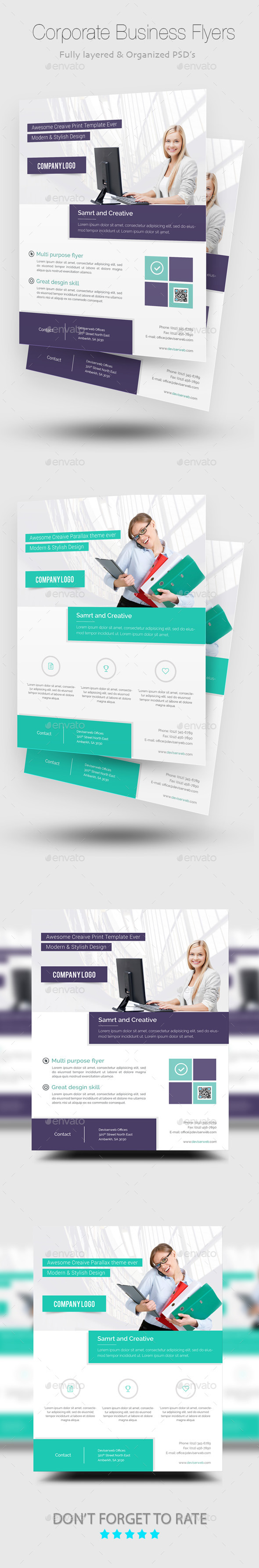 GraphicRiver Corporate Business Flyer Templates 8970624