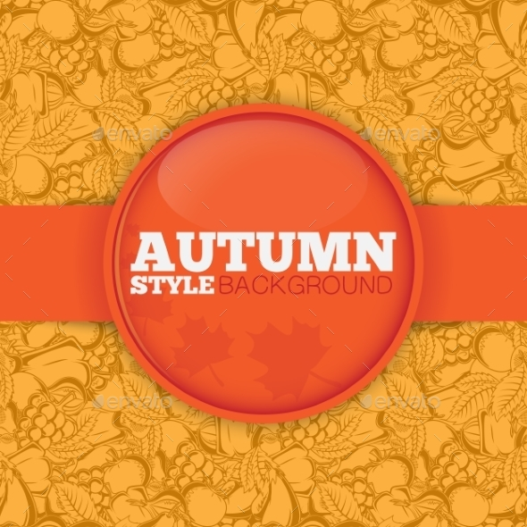 GraphicRiver Autumn Background with Pattern 8970636