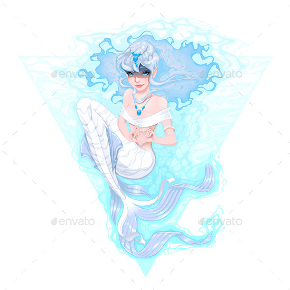 GraphicRiver Mermaid marking the Heart with her Hands 8970715