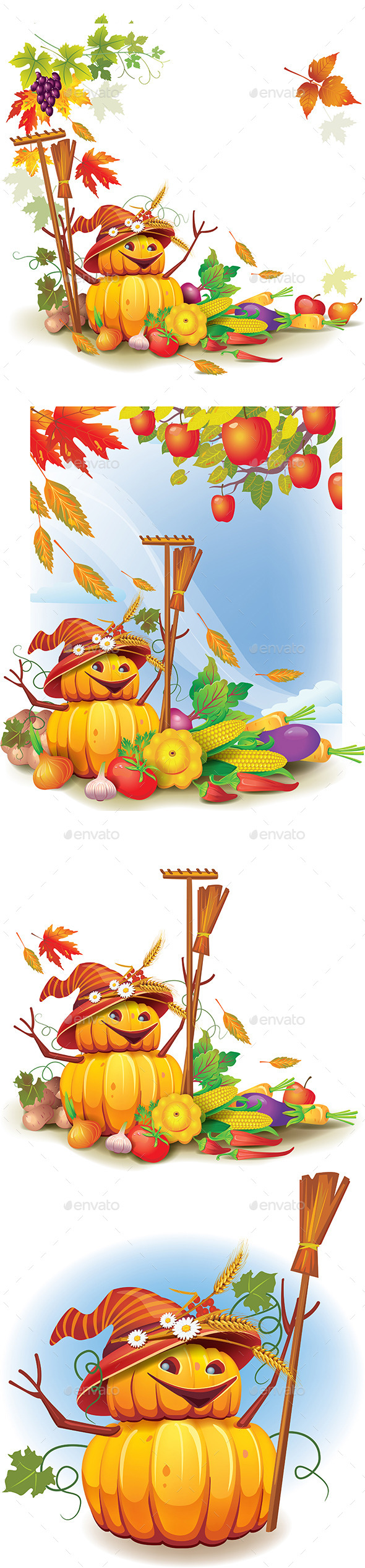GraphicRiver Template on a Theme on the Autumn Harvest 8970720