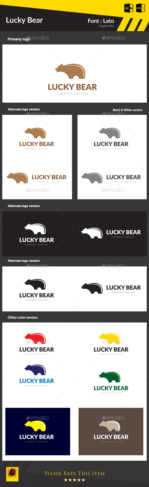 GraphicRiver Lucky Bear 8970802