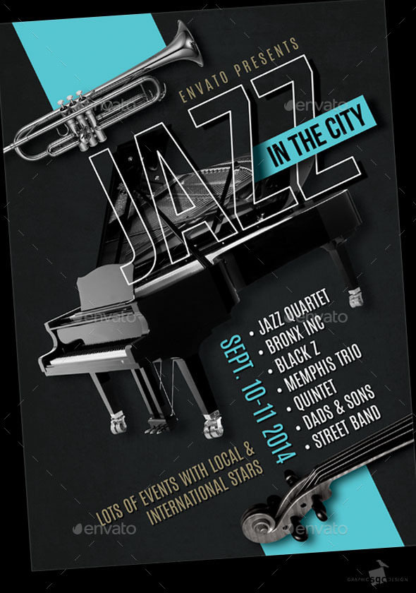 GraphicRiver Jazz Festival Flyer 8970807
