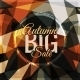 Autumn Sale Vector Typography on Triangular Background - GraphicRiver Item for Sale