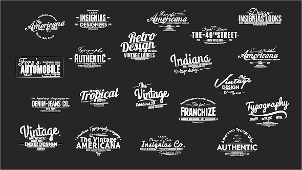 Vintage Slideshow Titles Pack After Effects Project Files