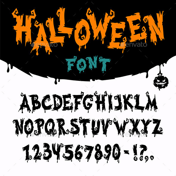 GraphicRiver Halloween Vector Font 8957527
