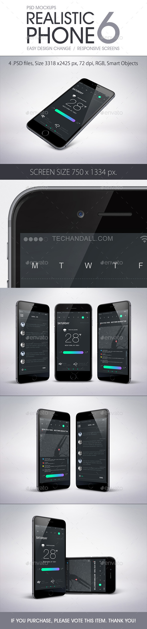 GraphicRiver Realistic Phone 6 Mockup 8971424